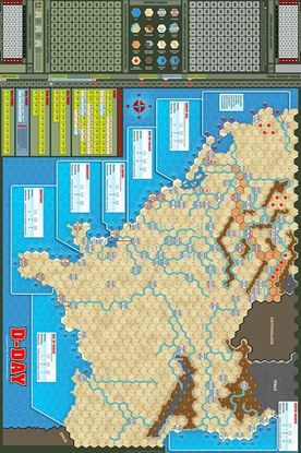 Picture of D-Day Map by J. Cooper