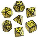 Picture of Nuke 3D Dice Set Black-yellow, Set of 7