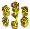 Picture of Celtic 3D Yellow-black  dice set, Set of 7