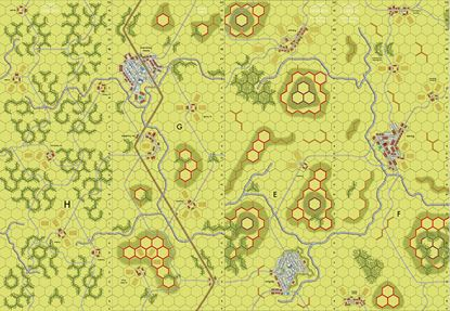 Picture of Imaginative Strategist Panzer Leader Map Set EFGH 5/8 inch