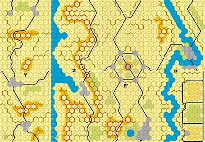 Picture of Imaginative Strategist Panzer Leader Desert Map Set YZE'R inverse 5/8 inch