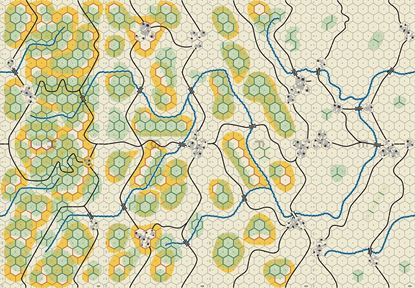 Picture of Panzer Leader Blitz Battle of the Bulge Center Map Set 5/8 inch